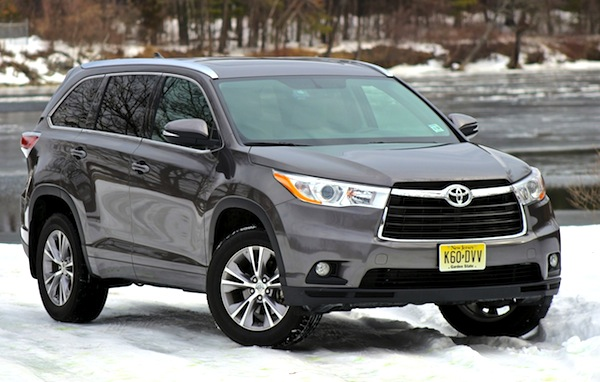 Toyota Highlander USA April 2014. Picture courtesy of cargurus.com