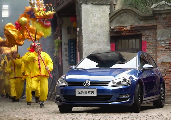 VW Golf China August 2014. Picture courtesy of bitauto.com