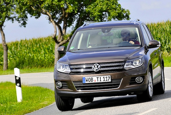 VW Tiguan Germany April 2014. Picture courtesy of autobild.de
