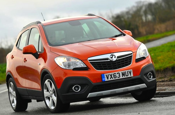 Vauxhall Mokka UK March  2015. Picture courtesy of whatcar.co.uk