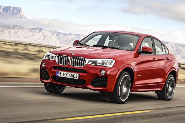 BMW X4 France May 2014. Picture courtesy of largus.fr