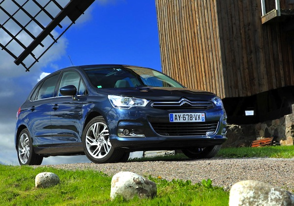 Citroen C4 Belgium April 2014. Picture courtesy of largus.fr