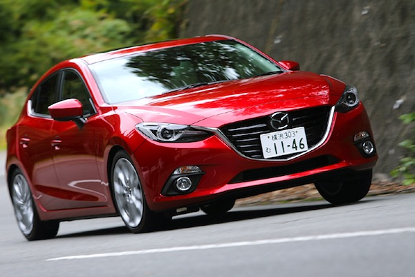 Mazda Axela Japan May 2014. Picture couresy of webcb.com
