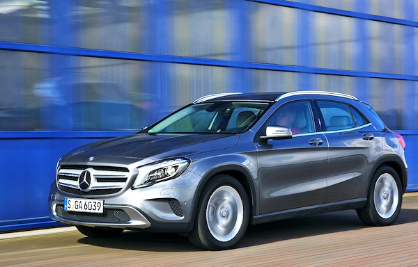 Mercedes GLA Swizterland May 2014. Picture courtesy of autobild.de