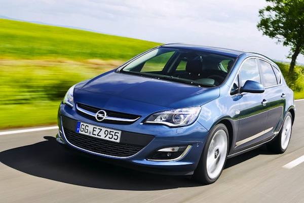 Opel Astra Germany May 2014. Picture courtesy of autobild.de