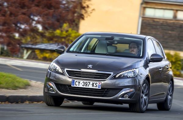 Peugeot 308 France June 2014. Picture courtesy of largus.fr