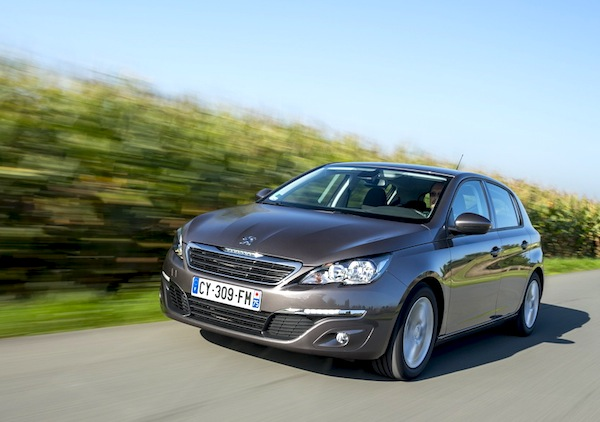 Peugeot 308 France May 2014. Picture courtesy of largus.fr