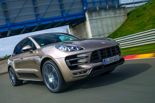 Porsche Macan Switzerland July 2014. Picture courtesy of autobild.de