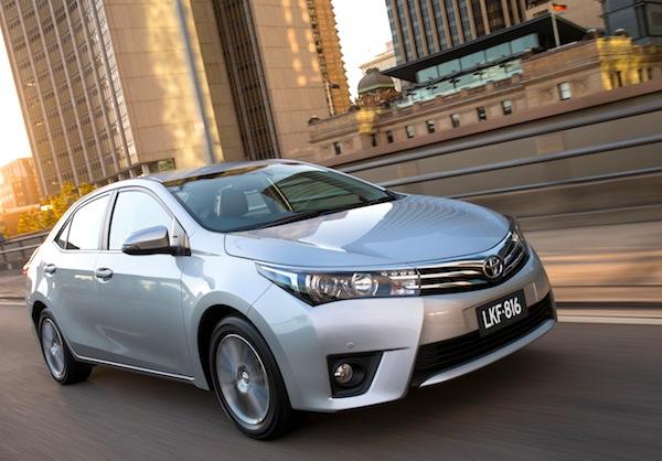 Toyota Corolla Australia October 2014