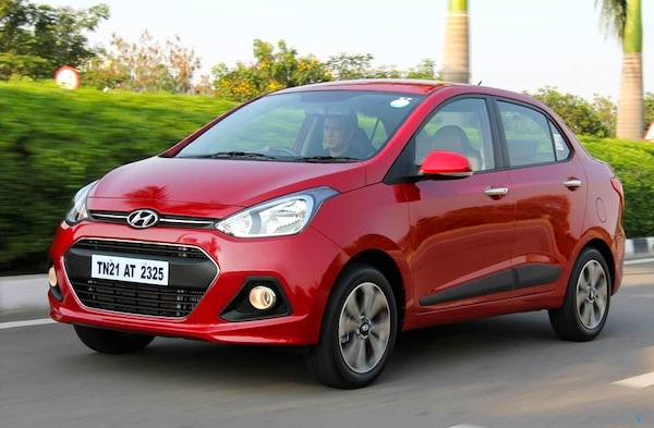 Hyundai Xcent India June 2014. Picture courtesy of motorbeam.com