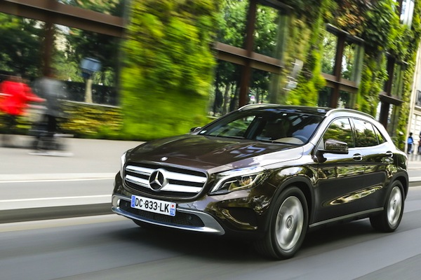 Mercedes GLA Swizterland June 2014. Picture courtesy of largus.fr