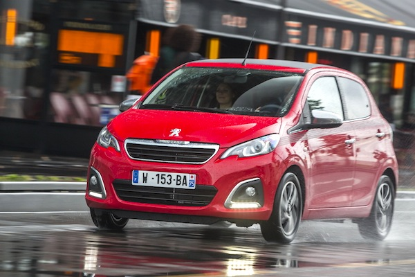 Peugeot 108 Denmark June 2014. Picture courtesy of largus.fr