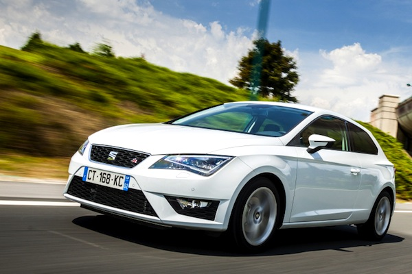 Seat Leon Czech Republic June 2014. Picture courtesy of largus.fr