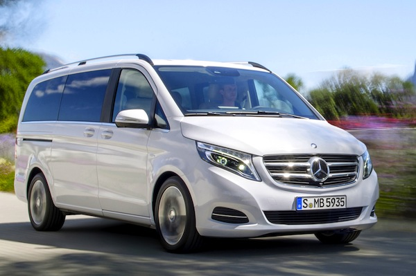 Mercedes V Class Germany July 2014