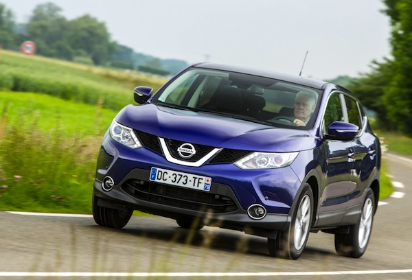 Nissan Qashqai Bulgaria July 2014. Picture courtesy of largus.fr
