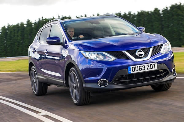 Nissan Qashqai UK July 2014