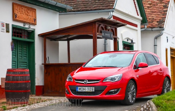Opel Astra Hungary July 2014. Picture courtesy of autonavigator.hu