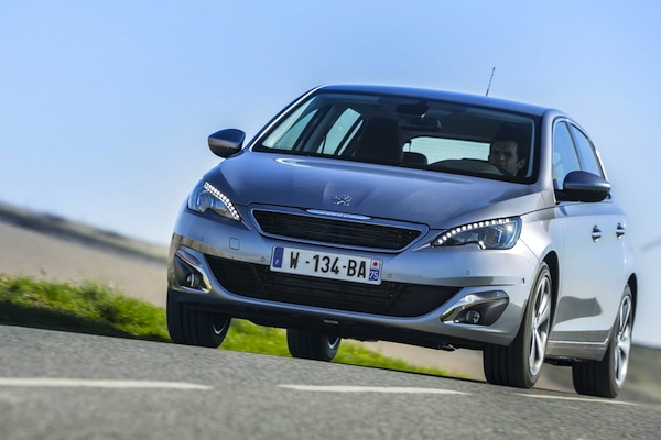 Peugeot 308 Netherlands July 2014. Picture courtesy of largus.fr