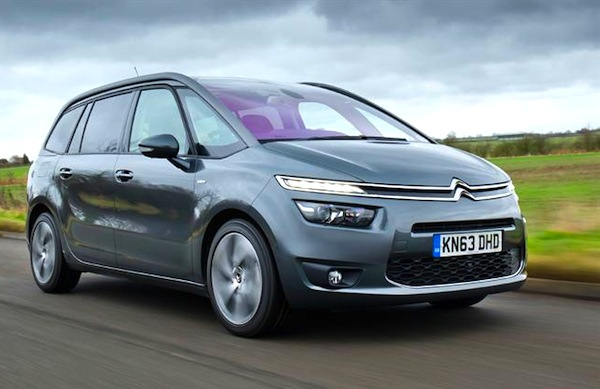 Citroen C4 Picasso UK August 2014. Picture courtesy of whatcar.co.uk