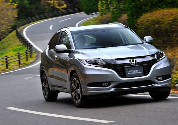 Honda Vezel Japan August 2014