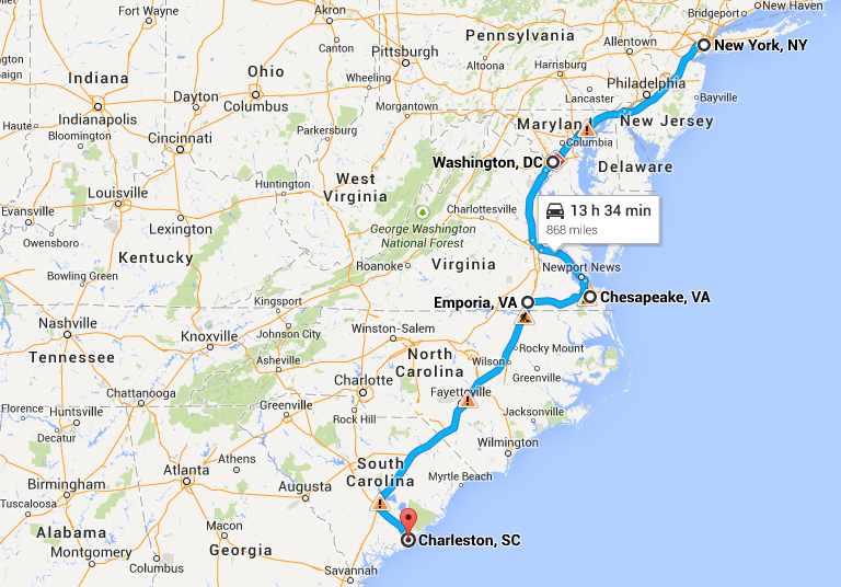 How Far Is New York From Georgia By Car