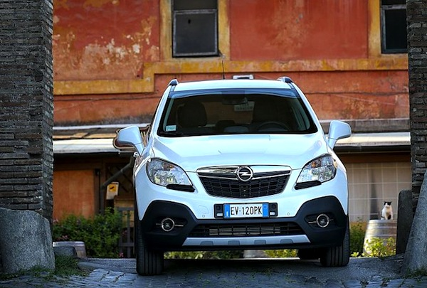 Opel Mokka Italy August 2014. Picture courtesy of omniauto.it