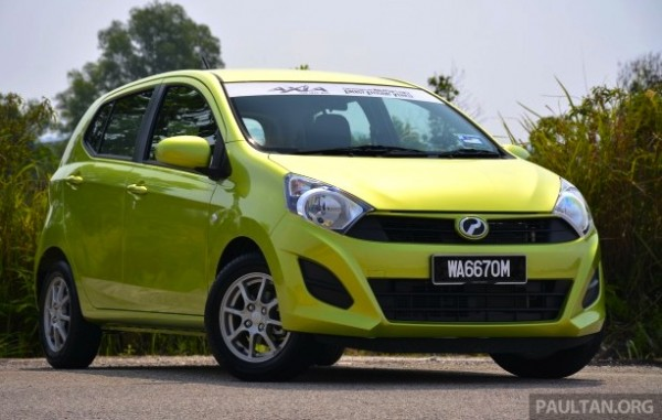 Perodua Axia Malaysia August 2014. Picture courtesy of paultan.org