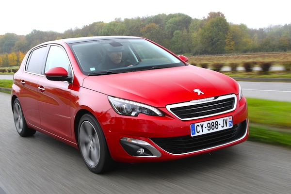 Peugeot 308 Europe July 2014. Picture courtesy of largus.fr