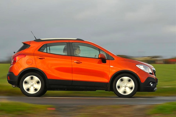 Vauxhall Mokka UK August 2014. Picture courtesy of whatcar.co.uk