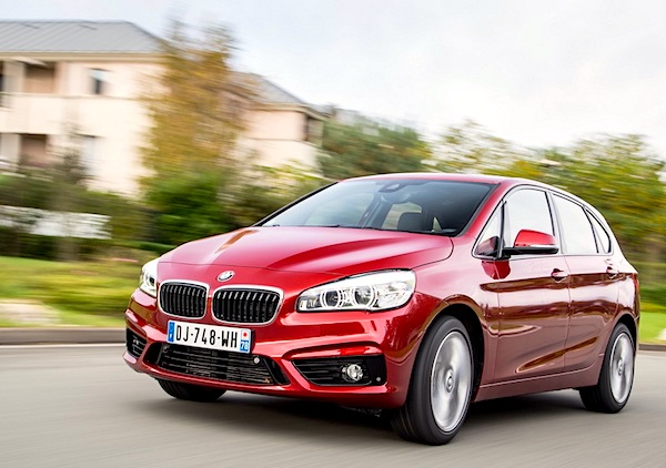 BMW 2 Series Active Tourer Italy September 2014. Picture courtesy of largus.fr