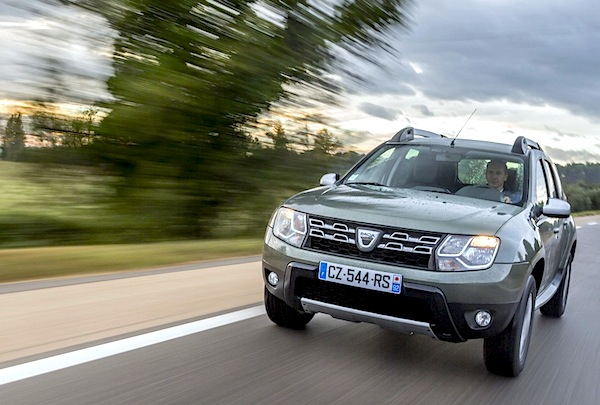 Dacia Duster Europe August 2014. Picture courtesy of largus.fr