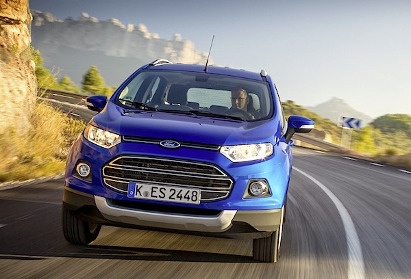 Ford Ecosport Italy September 2014. Picture courtesy of largus.fr