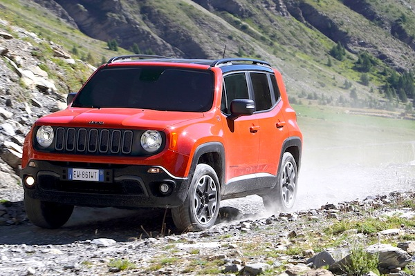 Jeep Renegade France September 2014. Picture courtesy of largus.fr