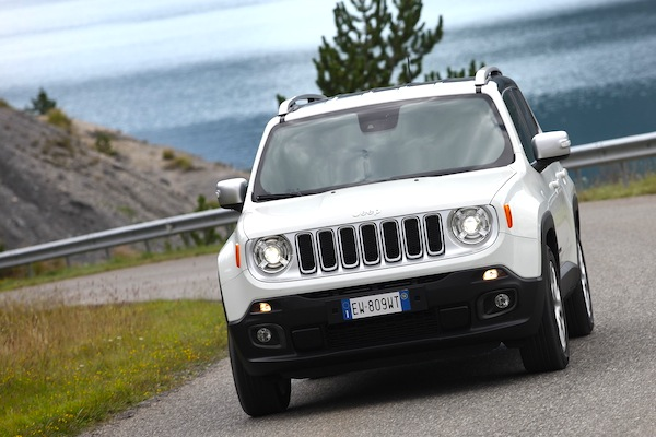 Jeep Renegade Italy August 2014. Picture courtesy of largus.fr