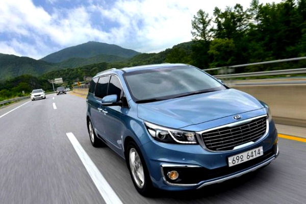 Kia Carnival South Korea September 2014. Picture courtesy of hankyung.com