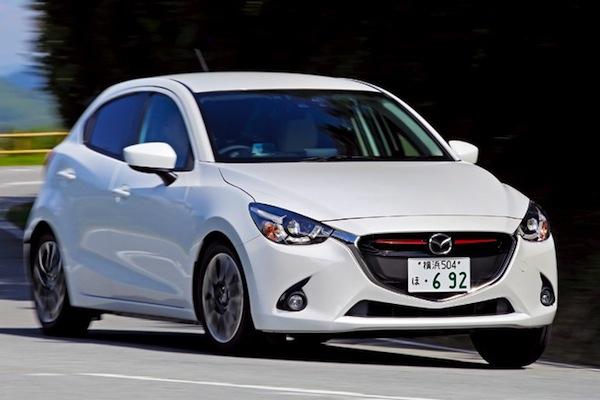 Mazda Demio Japan March 2015. Picture courtesy of autocar.jp