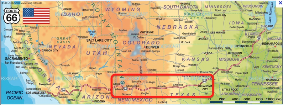 Map Of America Showing Route 66.Coast To Coast 2014 Driving Old Route 66 Part 1 The