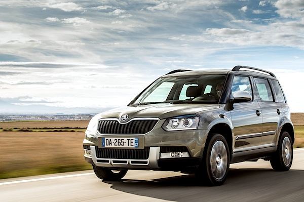 Skoda Yeti Europe August 2014. Picture courtesy of largus.fr
