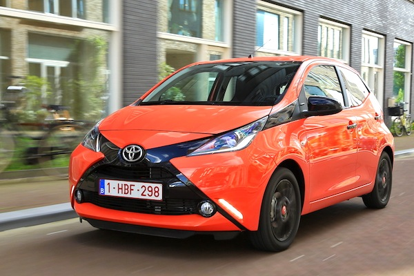 Toyota Aygo Italy September 2014. Picture courtesy of largus.fr