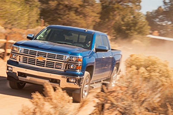 Chevrolet Silverado 1500 USA October 2014. Picture courtesy of motortrend.com