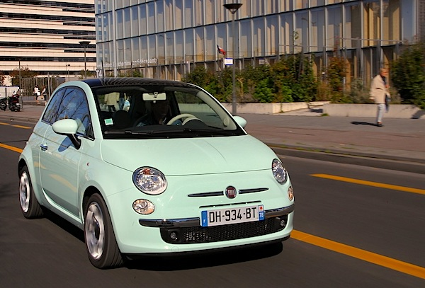 Fiat 500 Belgium Belgium September 2014. Picture courtesy of largus.fr