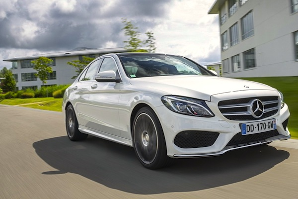 Mercedes C Class Switzerland February 2015. Picture courtesy of largus.fr