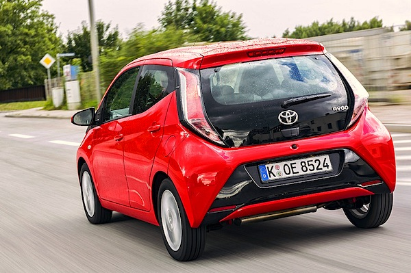 Toyota Aygo Germany October 2014. Picture courtesy of autobild.de