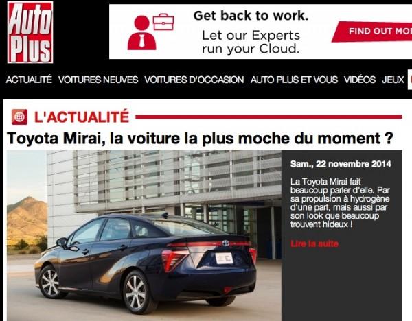 Toyota Mirai Auto Plus Nov 2014