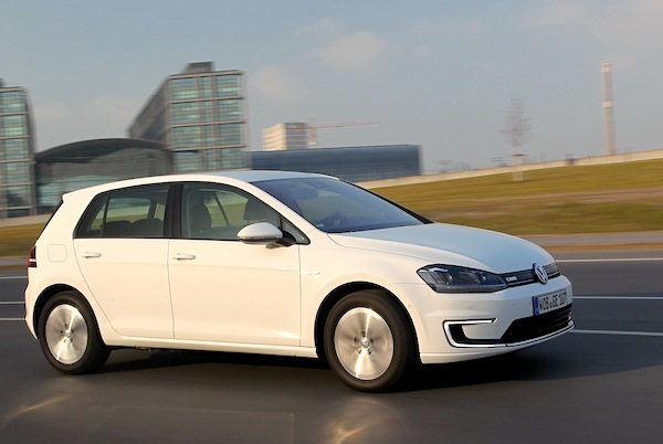 VW e-Golf Norway October 2014. Picture courtesy of largus.fr