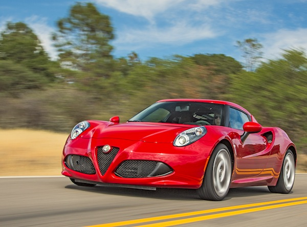 Alfa Romeo 4C USA November 2014. Picture courtesy of motortrend.com