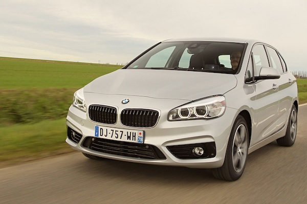 BMW 2 Series Active Tourer Belgium January 2015. Picture courtesy of largus.fr