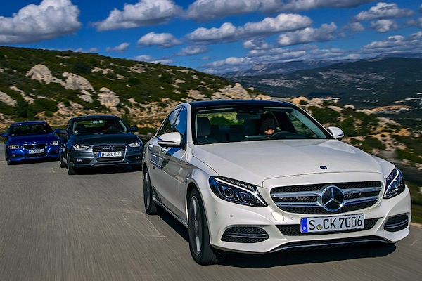 Mercedes C Class Germany November 2014. Picture courtesy of autobild.de