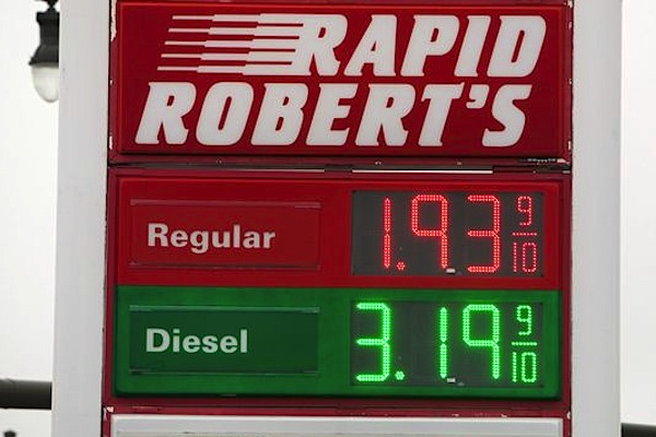 Missouri gas price. Photo-Valerie Mosley Springfield News Leader
