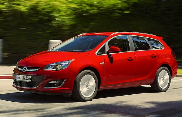 Opel Astra Germany November 2014. Picture courtesy of autobild.de